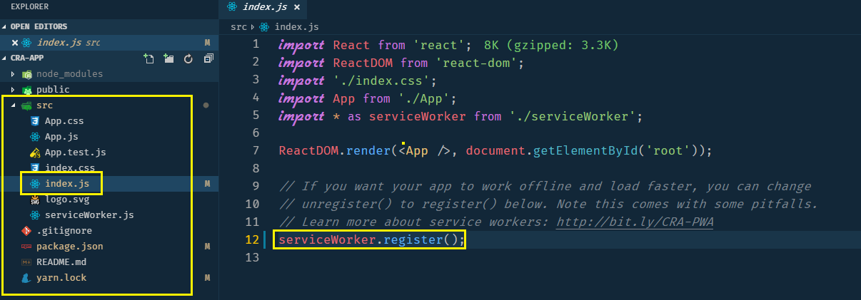 Using Custom Workbox Service Workers with Create-React-App (without