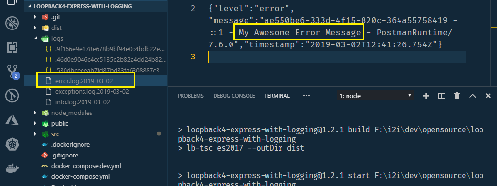 Mounting Loopback 4 Rest API in Express with Winston Logging